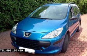Peugeot 307 sprzedam niebieski 17900 PLN z małym przebiegiem z kompletem dokumentów w Warszawie