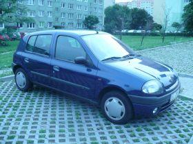 Renault Clio Hatchback sprzedam granatowy z kompletem dokumentów 43 KM 5200 PLN cena do negocjacji benzyna w Łodzi