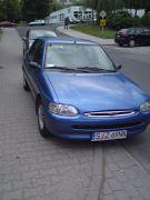Ford Escort 1997 r sprzedam niebieski benzyna z małym przebiegiem nieuszkodzony 1800 PLN Żory