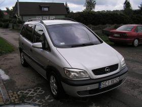 Opel Zafira Elegance 2.0 l sprzedam srebrny diesel 11500 PLN cena do negocjacji 5-drzwiowy w Skoczowie