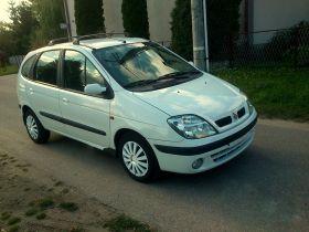 Renault Scenic 2002 r Hatchback sprzedam biały 5-drzwiowy diesel nieuszkodzony 8200 PLN Chojnice