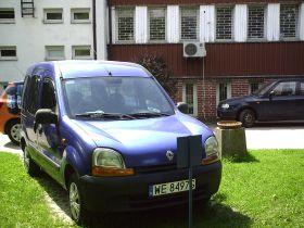 Renault Kangoo sprzedam niebieski z małym przebiegiem 6500 PLN cena do negocjacji Bus Warszawa