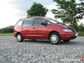 Volkswagen Sharan sprzedam bordowy sprowadzony diesel ABS 10500 PLN 5-drzwiowy z kompletem dokumentów Rzymsko