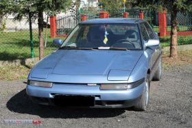 Mazda 323F sprzedam niebieski z małym przebiegiem benzyna szyberdach 2900 PLN cena do negocjacji w Sanoku