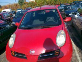 Nissan Micra 1.0 l sprzedam czerwony z kompletem dokumentów z alarmem ABS 12500 PLN cena do negocjacji benzyna Warszawa