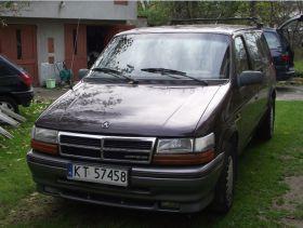 Chrysler Voyager 1991 r sprzedam brązowy benzyna + LPG 4000 PLN cena do negocjacji z małym przebiegiem