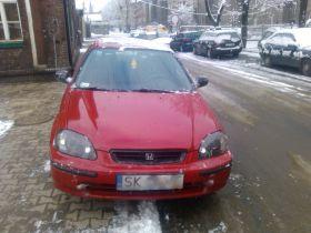 Honda Civic 1.4 l sprzedam czerwony szyberdach 5300 PLN cena do negocjacji Welurowa w Katowicach