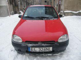 Opel Corsa 1.4 l sprzedam czerwony sprowadzony z małym przebiegiem benzyna 3500 PLN szyberdach Łódź
