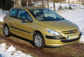 Peugeot 307 1.4 l HDI sprzedam złoty ABS z małym przebiegiem 10000 PLN cena do negocjacji w Wałbrzychu
