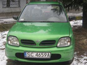 Nissan Micra sprzedam zielony nieuszkodzony ABS 4000 PLN cena do negocjacji na gaz 5-drzwiowy