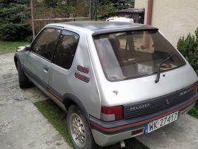 Peugeot 205 1.6 l sprzedam z alufelgami nieuszkodzony przyciemniane szyby na gaz w Warszawie