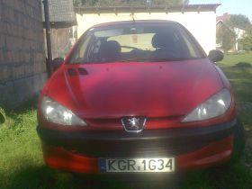 Peugeot 206 xr sprzedam czerwony 5500 PLN cena do negocjacji benzyna z małym przebiegiem Przysieki