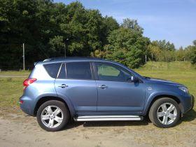 Toyota Rav 4 RAV4 sprzedam niebieski 80000 PLN cena do negocjacji z alufelgami z małym przebiegiem Skórzana