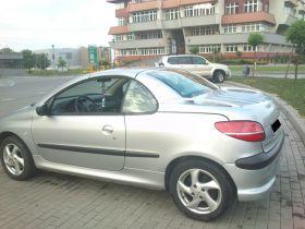 Peugeot 206 cc 1.6 l sprzedam srebrny ABS 13000 PLN cena do negocjacji nieuszkodzony w Lubiniu