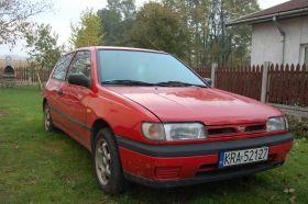 Nissan Sunny 1.4 l sprzedam czerwony benzyna nieuszkodzony 1200 PLN cena do negocjacji Kraków