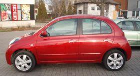 Nissan Micra 2009 r Hatchback sprzedam czerwony kupiony w polskim salonie ABS 29000 PLN w Warszawie