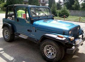 Jeep Wrangler niebieski komplet dokumentów benzyna 22500 PLN cena do negocjacji z małym przebiegiem